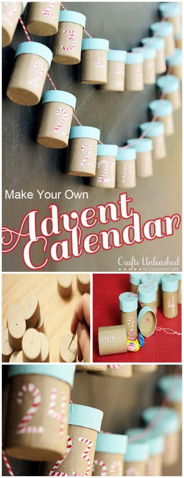 Paper Mache Box Christmas Countdown Calendar.