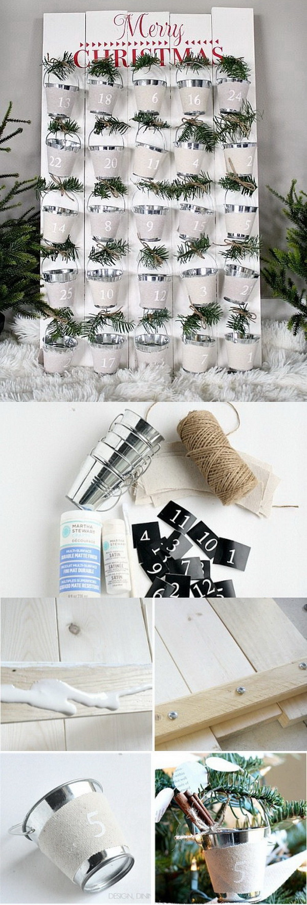 DIY Advent Calendar With Bucket Pails.