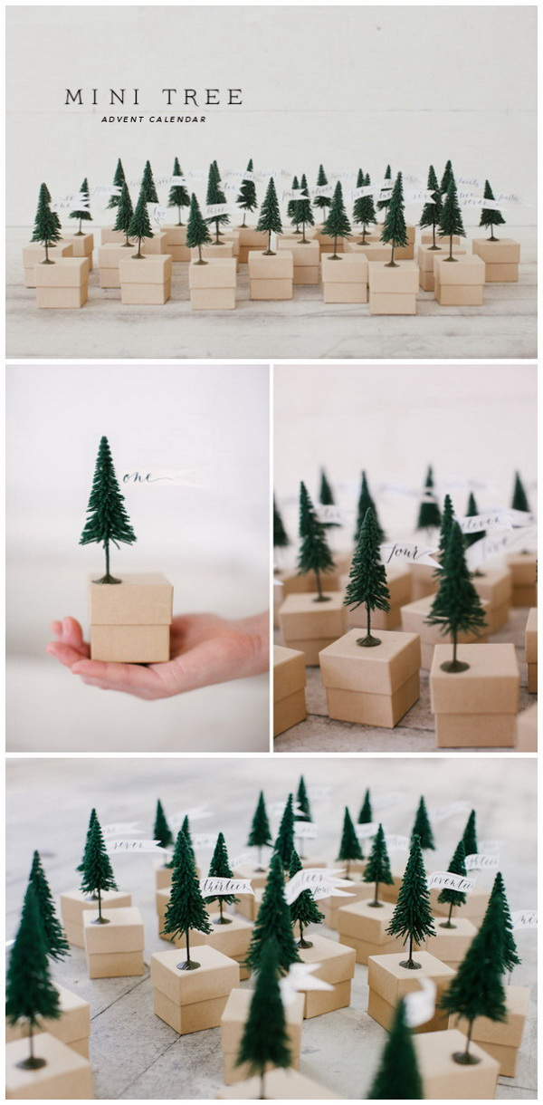 Mini Tree Advent Calendar.
