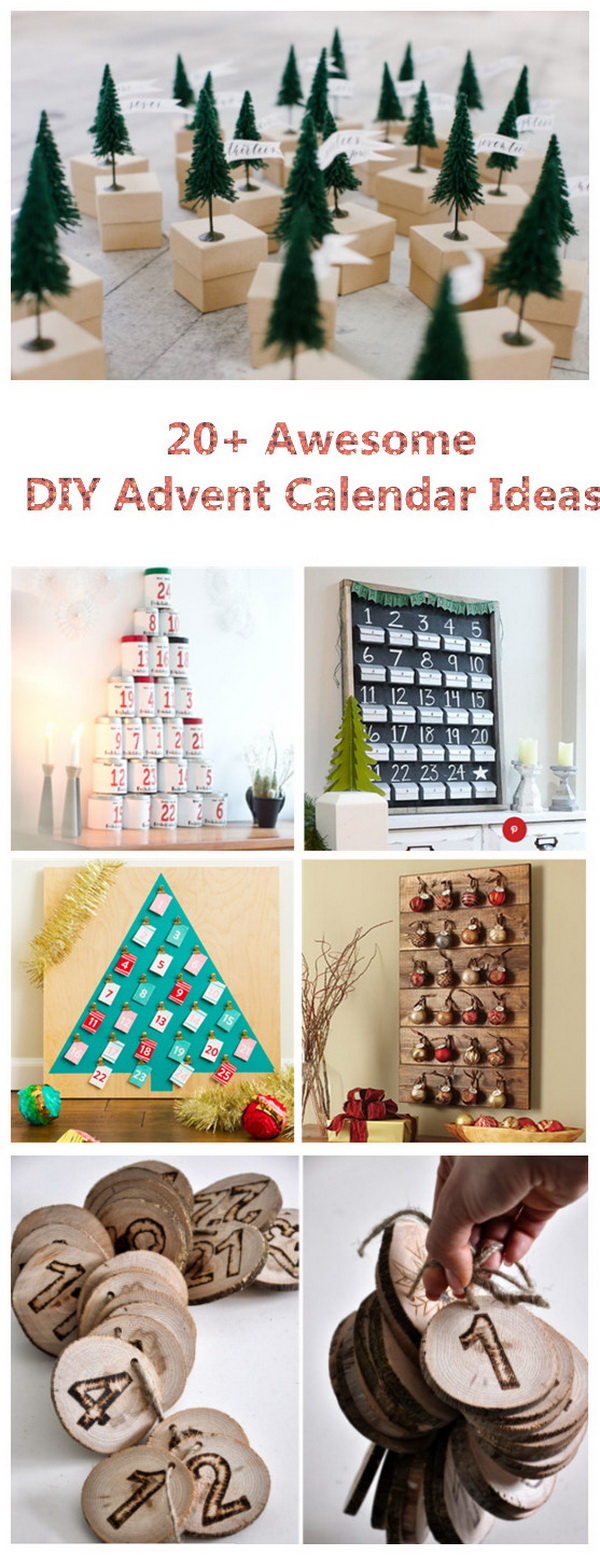 20+ Awesome DIY Advent Calendar Ideas. .
