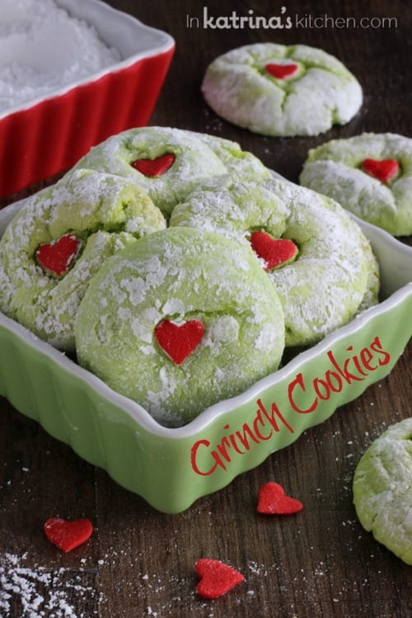 Quick and Easy Christmas Treat Ideas: Grinch Cookies.
