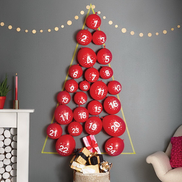 Balloon Tree Advent Calendar.