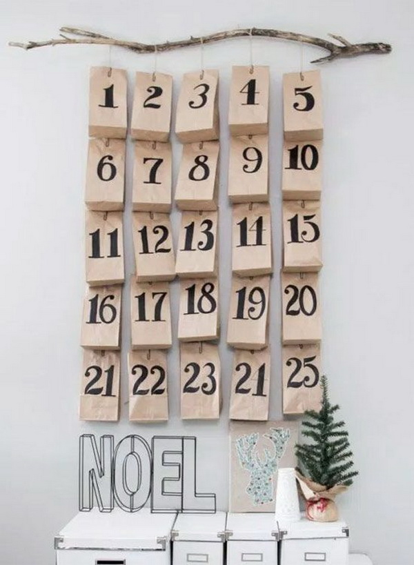 Craft Paper Bags Advent Calendar.