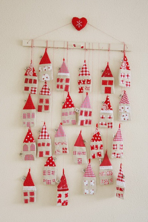 Little Fabric Houses Advent Calendar.
