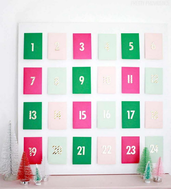 Envelope Advent Calendar.