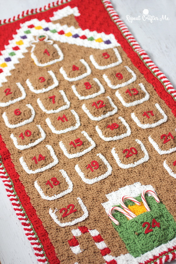 Crochet Gingerbread House Advent Calendar.