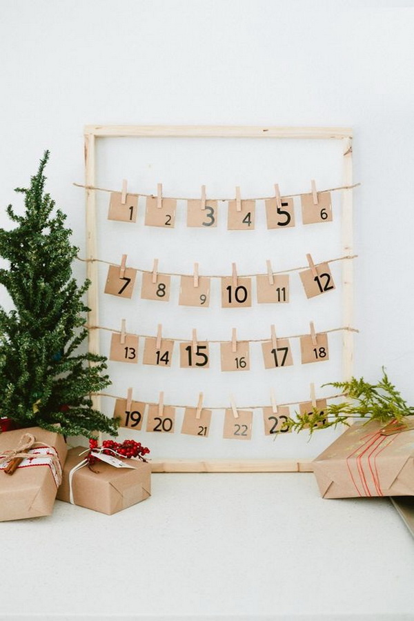 DIY Countdown to Christmas Advent Calendar.