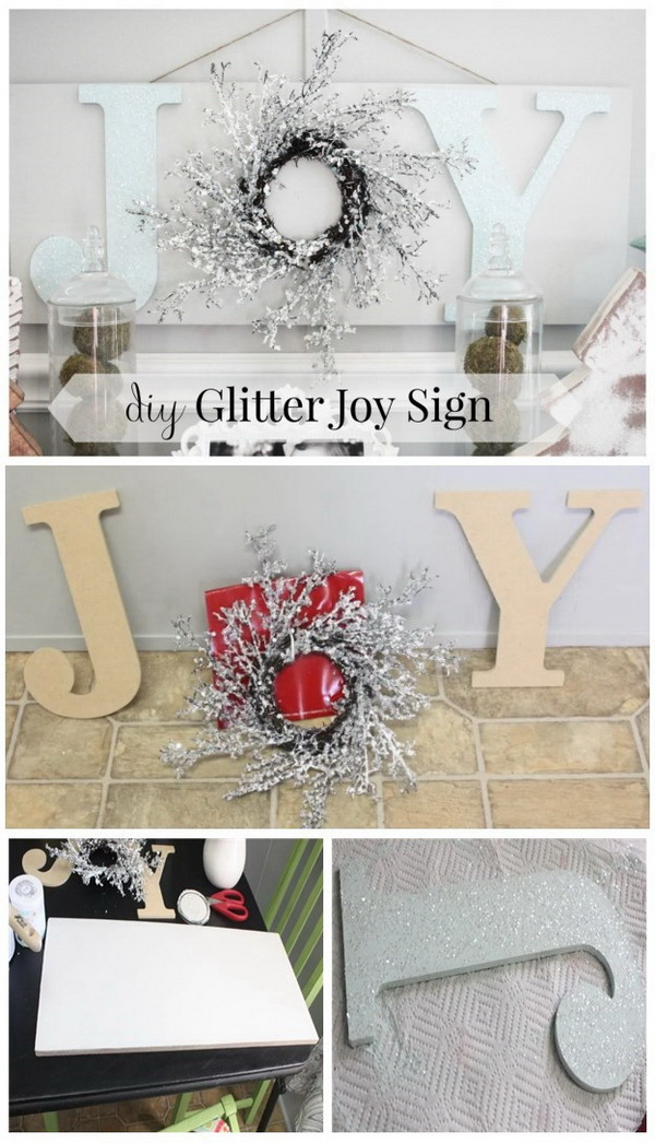 DIY Wooden Christmas JOY Sign.