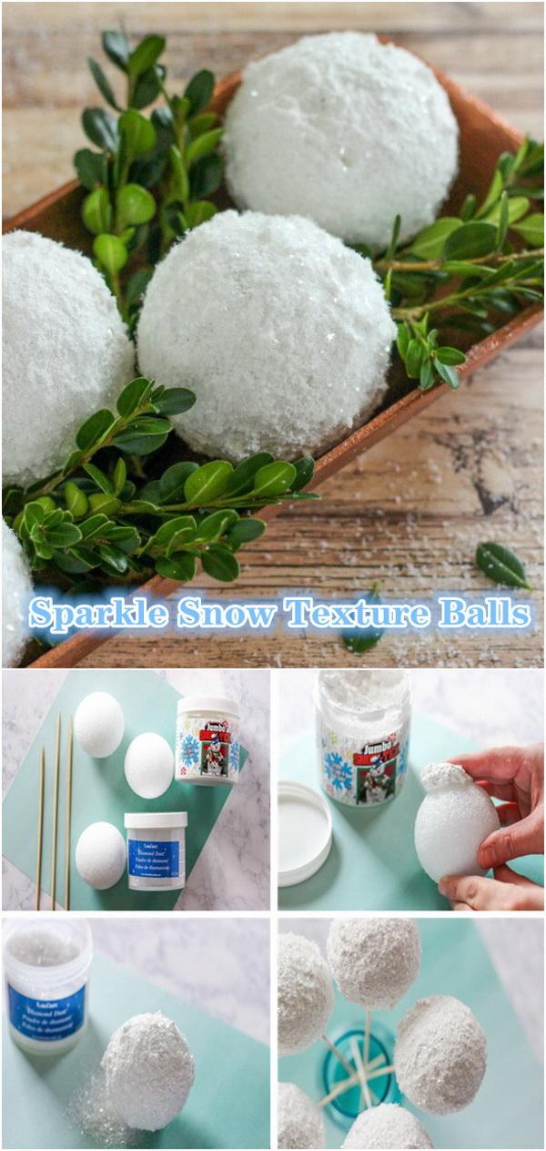 Sparkle Snow Texture Balls.