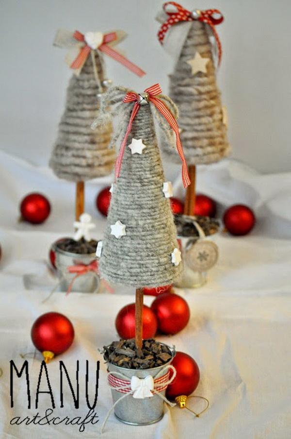 Mini Rustic Christmas Trees.