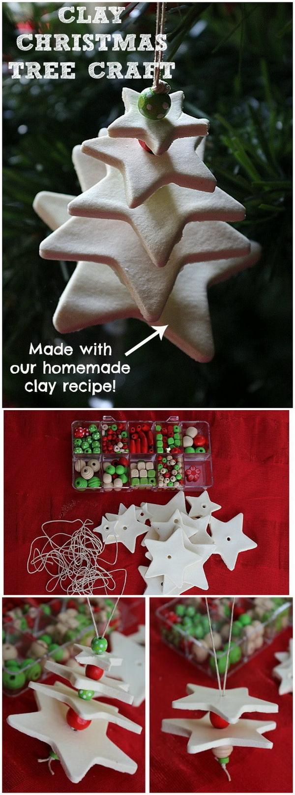 Clay Christmas Tree Ornament.