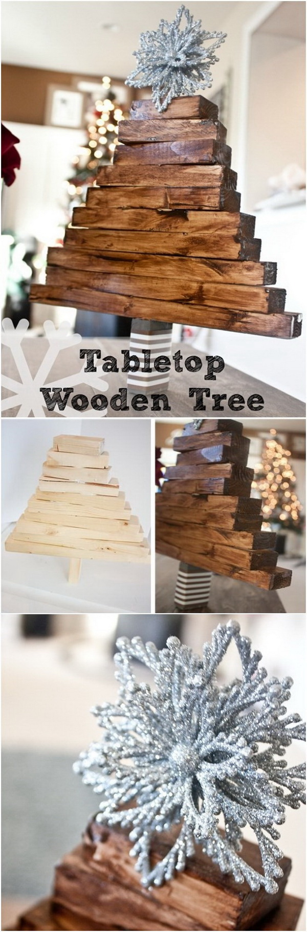 DIY Wooden Christmas Tree.