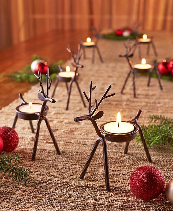 Reindeer Tea Light Holders.