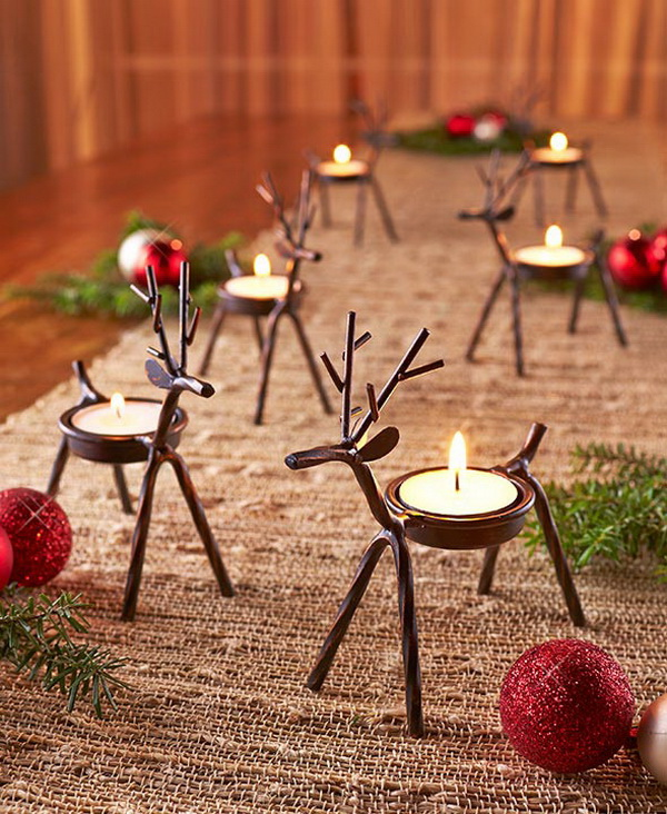 Reindeer Tea Light Holders.