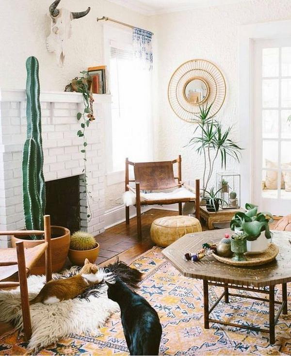 Boho inspired living room.