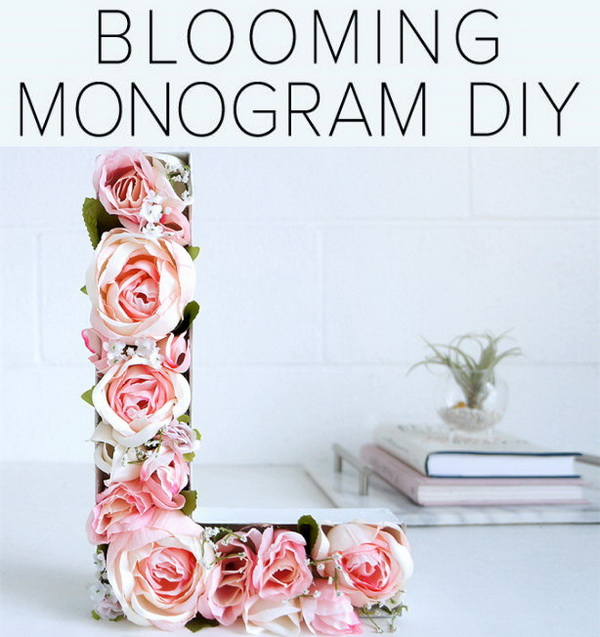 Blooming Monogram DIY.