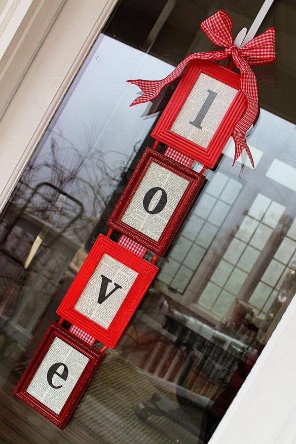 DIY Valentine's Day Door Hanger.