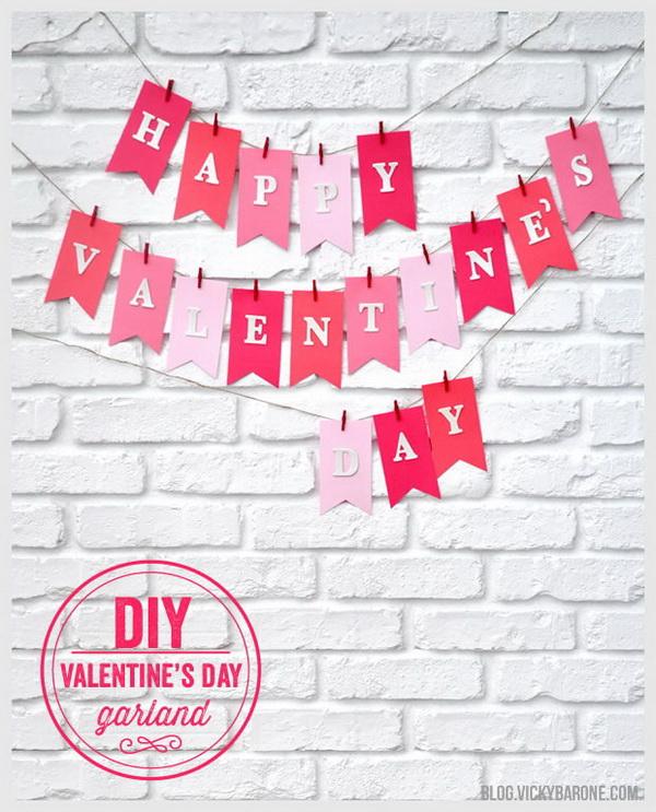 DIY Valentine's Day Garland.