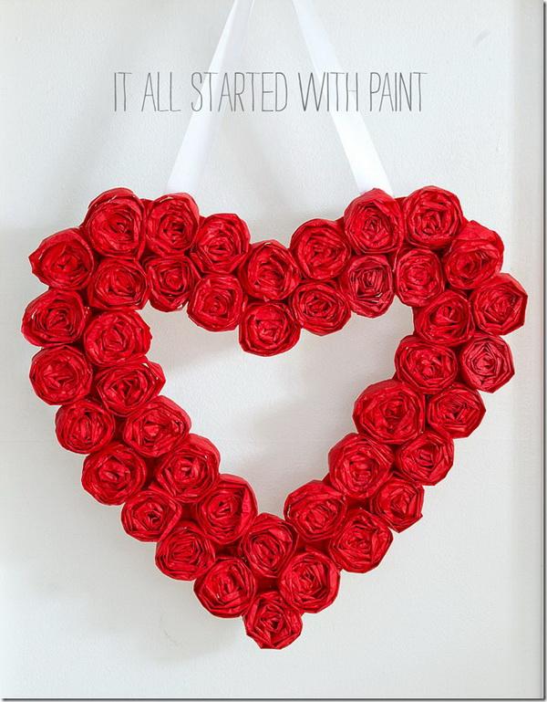 Heart-Shaped Valentine Wreath.