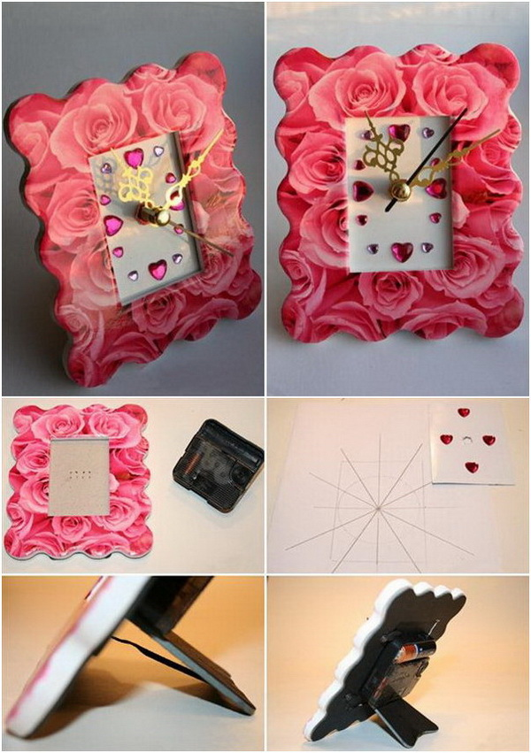 Roses Pattern Photo Frame.