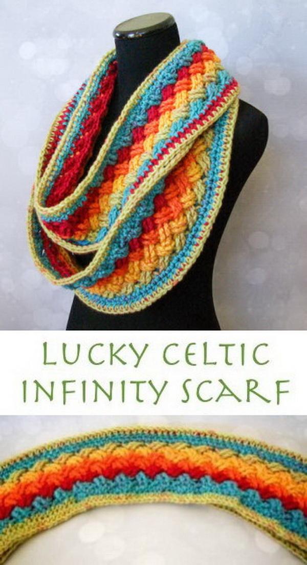 Lucky Celtic Infinity Scarf.