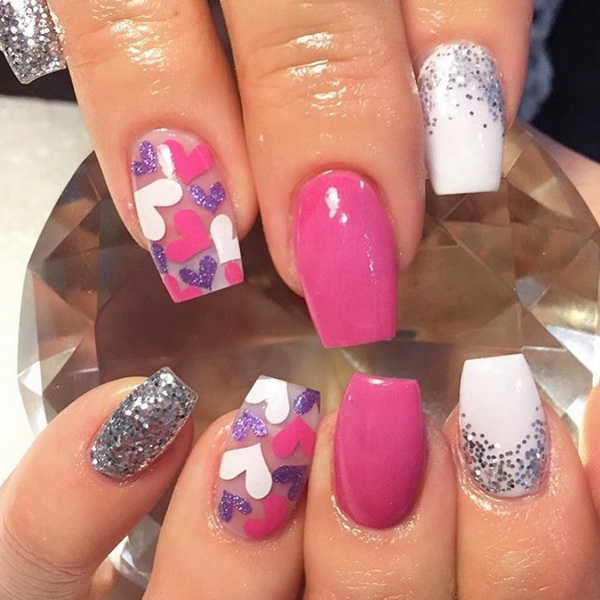 55+ Charming Valentine's Day Nail Art Designs. With adventurous shapes, sugary hearts, and that classic pink, red, and white nail polish color palette, these nail designs will have you feeling the love in no time.
