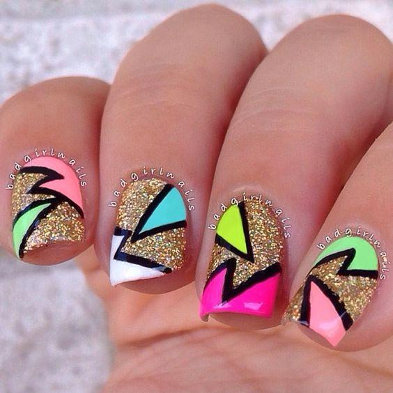 50+ Cool Abstract Nail Art Ideas.