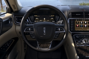 the area around the steering wheel shows how many controls are at the driver s fingertips [ 2160 x 947 Pixel ]