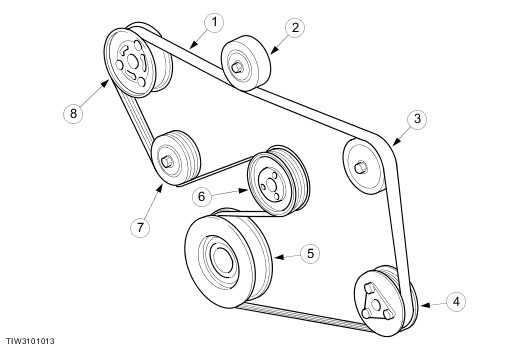 Форд фокус 1 схема ремня генератора