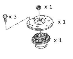 zestaw mocowanie amortyzatora poduszka + łożysko Mondeo S
