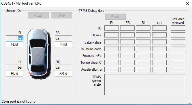 TPMS Tool ( Mondeo / S-Max / Galaxy ) v1.1