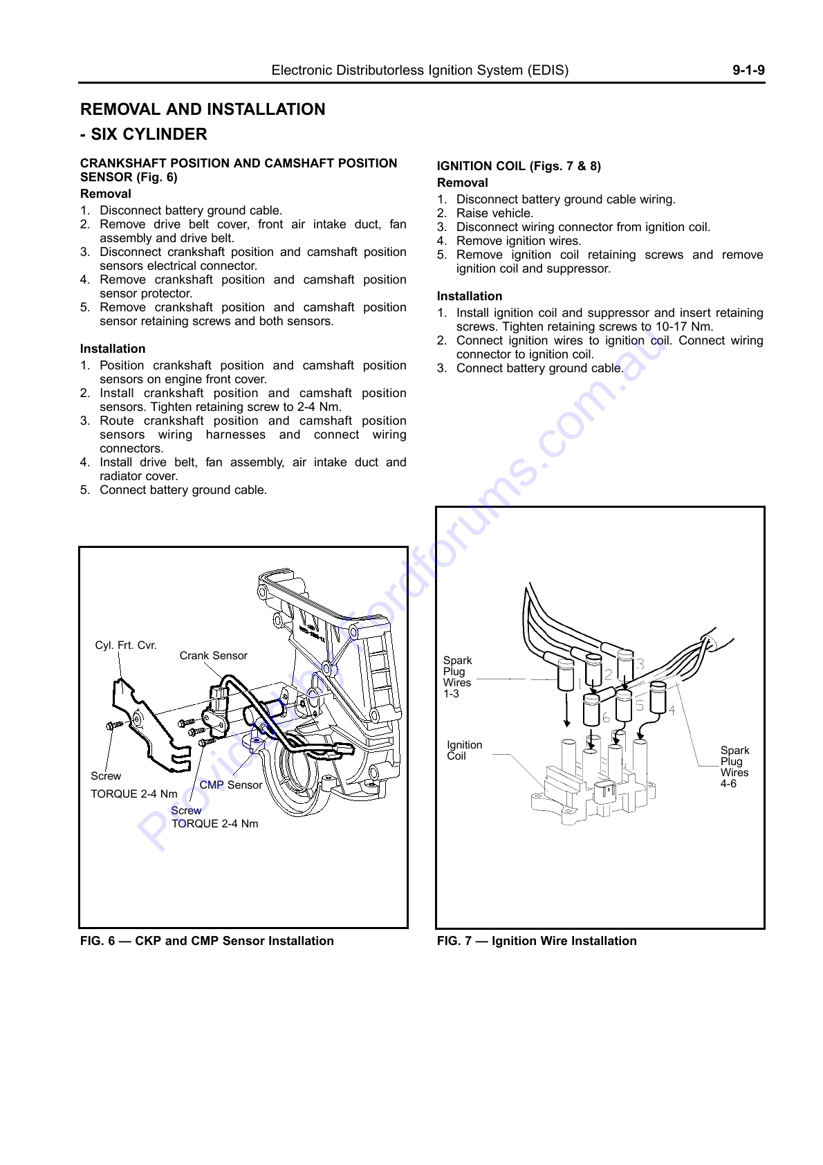 hight resolution of wiring manual diagrams 199r10555 electronic distributorless ignition system edis