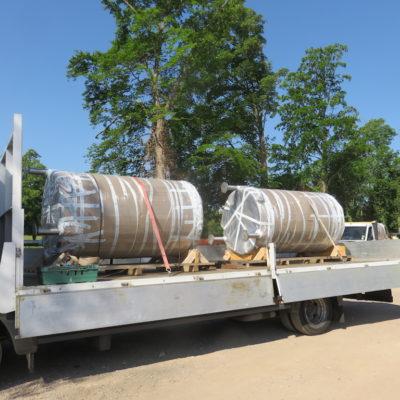 Delivery of Fermentation tanks