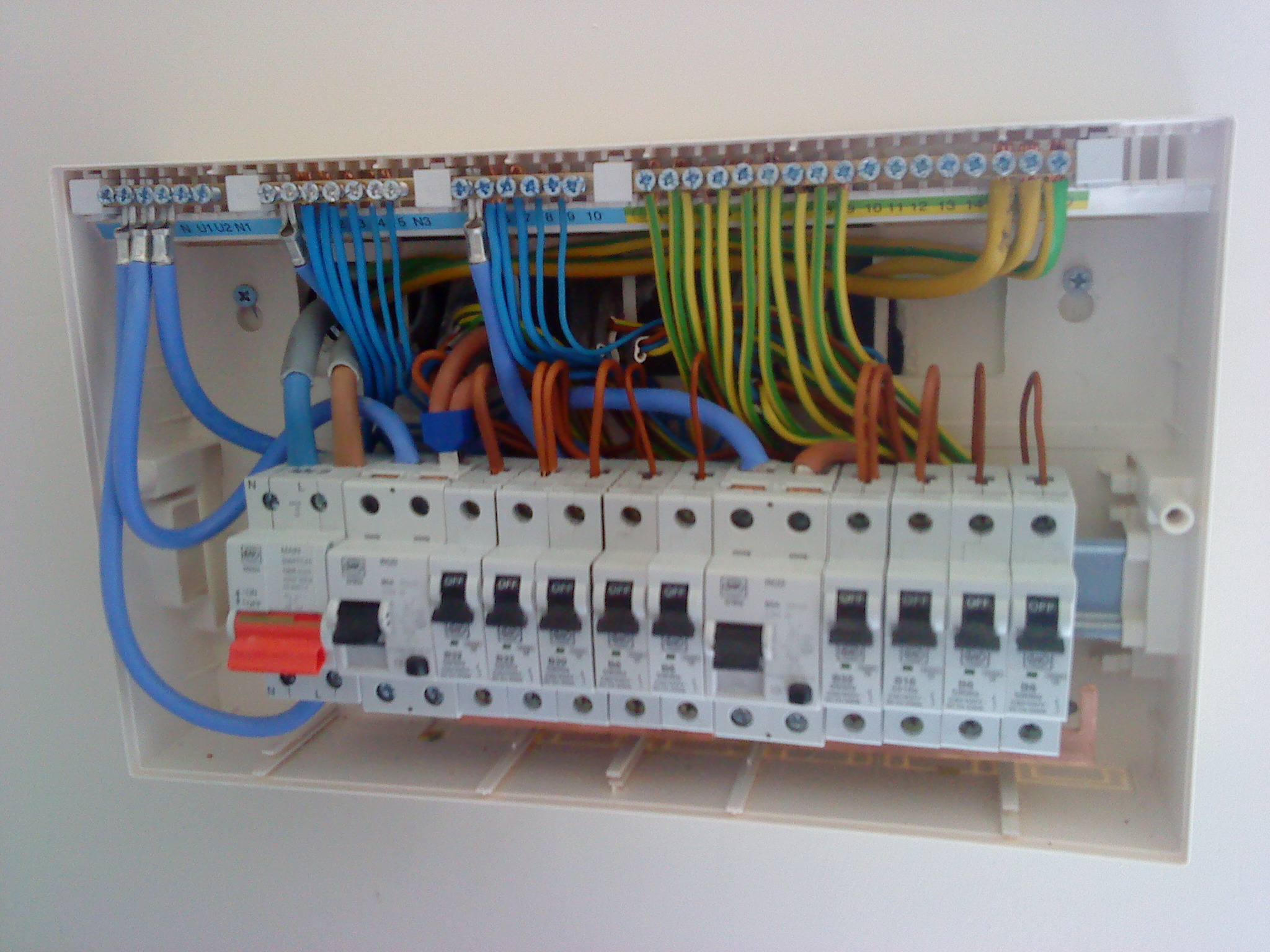 house fuse box wiring diagram college basketball court new build ford home electrics