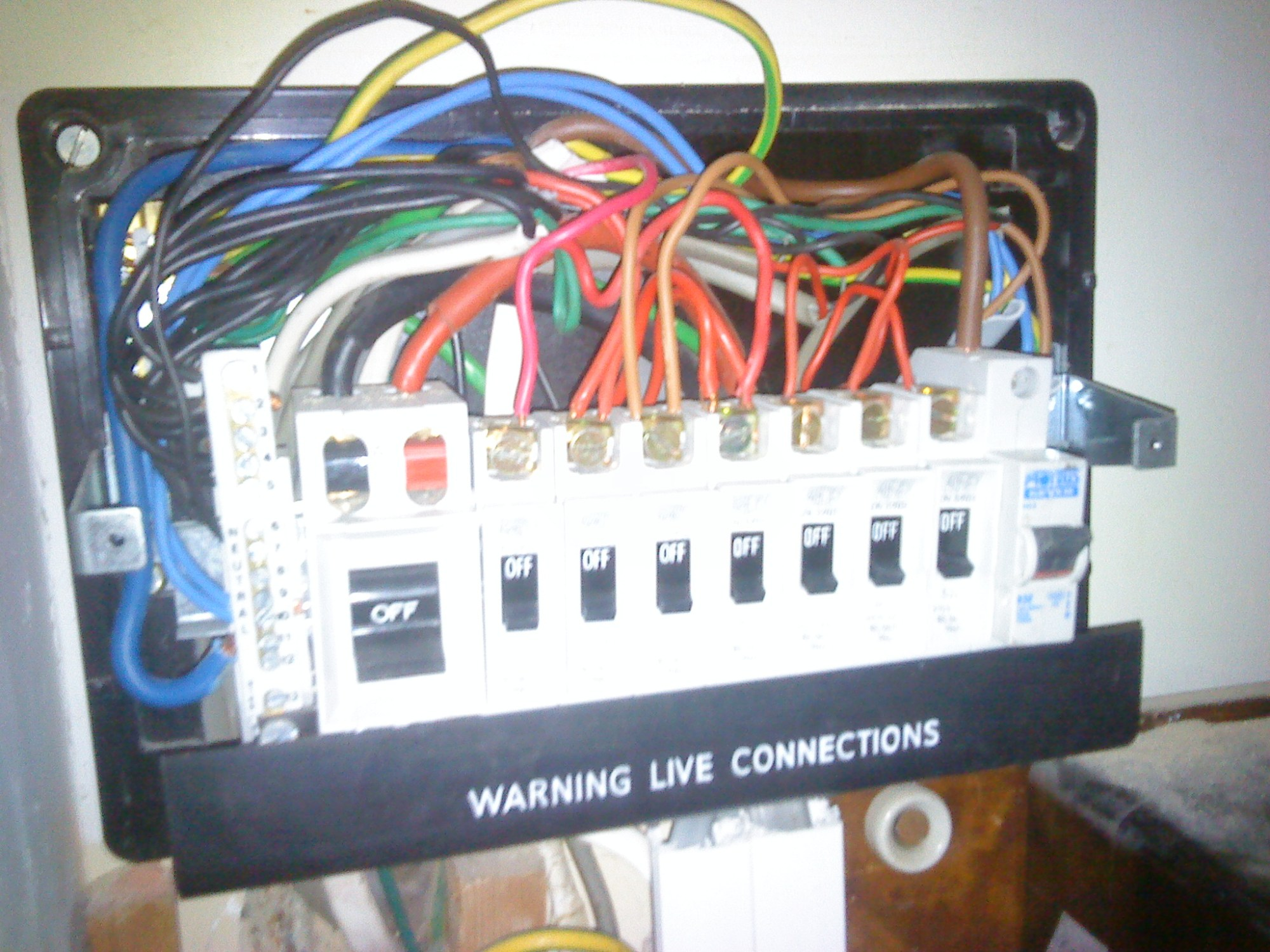hight resolution of typical fuse box with no rcd protection