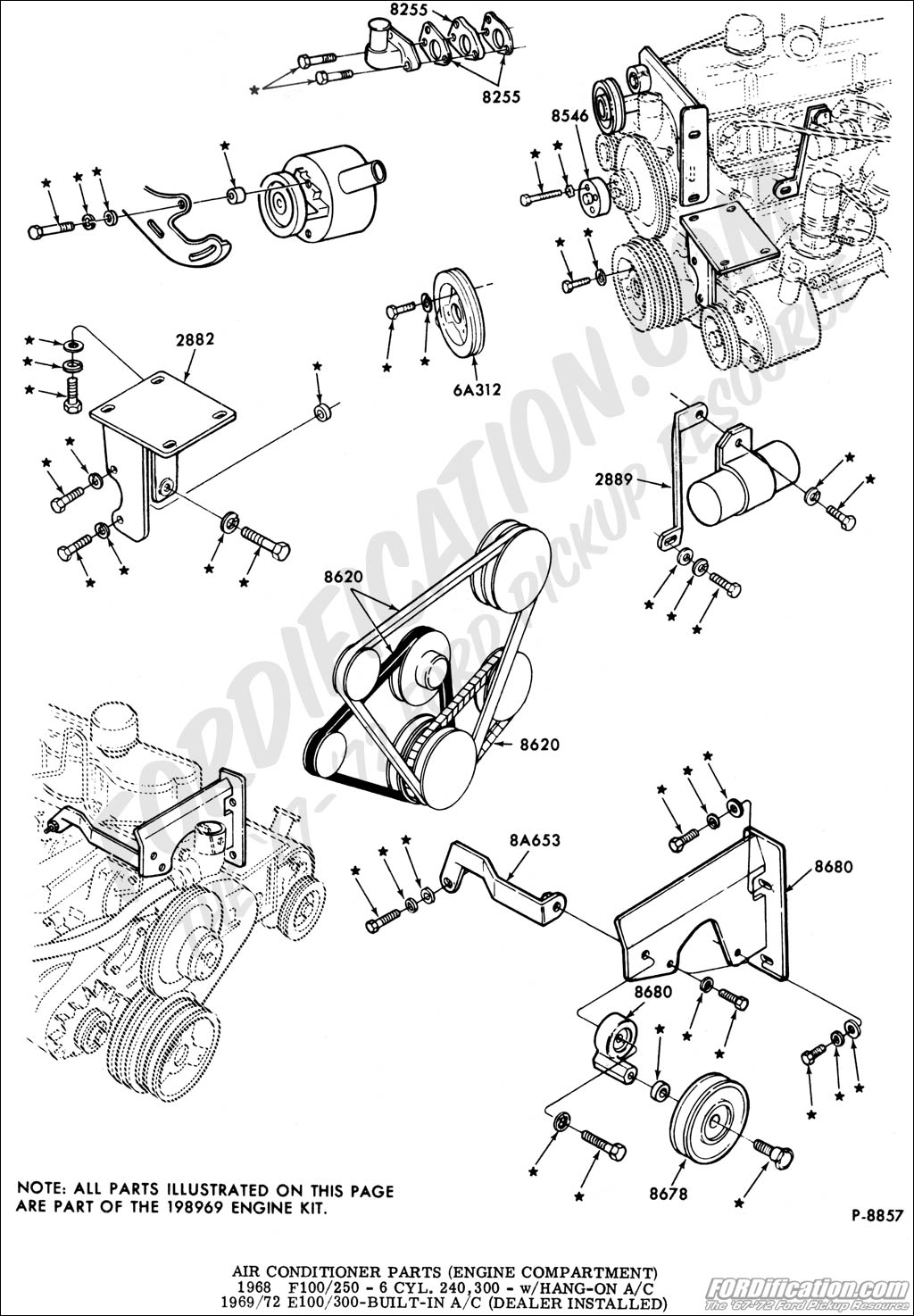 Ac bracket for a 1967 f100 300 engine underdash unit page 3 ford rh ford trucks