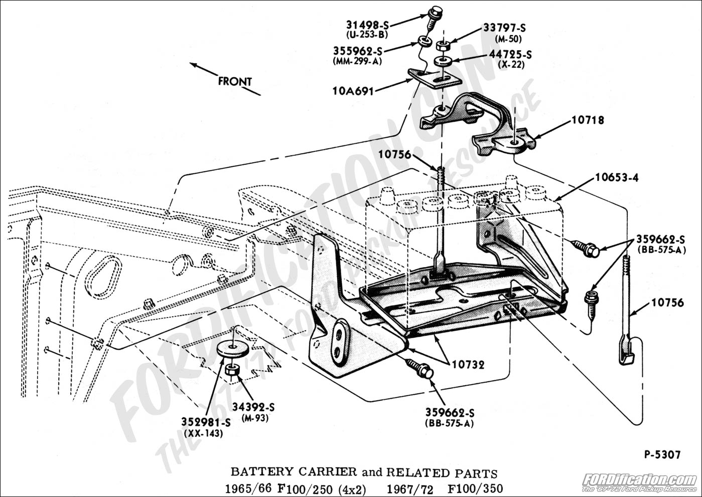 Ford F100 Battery