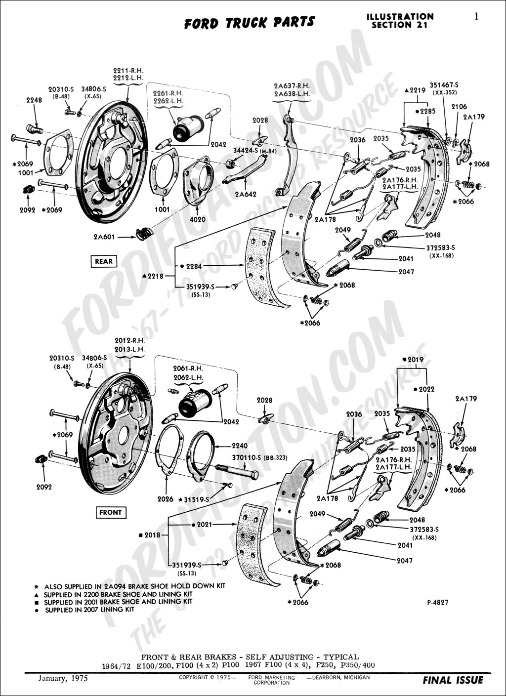 2000 Ford Ranger Brake Line Diagram : ranger, brake, diagram, Truck, Technical, Drawings, Schematics, Section, Brake, Systems, Related, Components