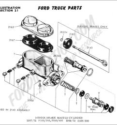 ford truck technical drawings and schematics section b brake systems and related components [ 1032 x 902 Pixel ]