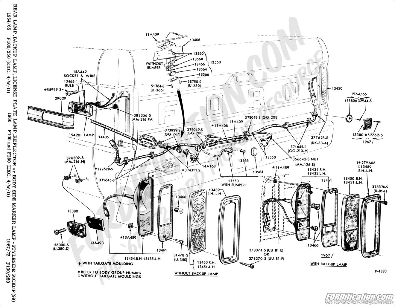 f100 wiring diagram gm alternator internal regulator ford truck technical drawings and schematics section i