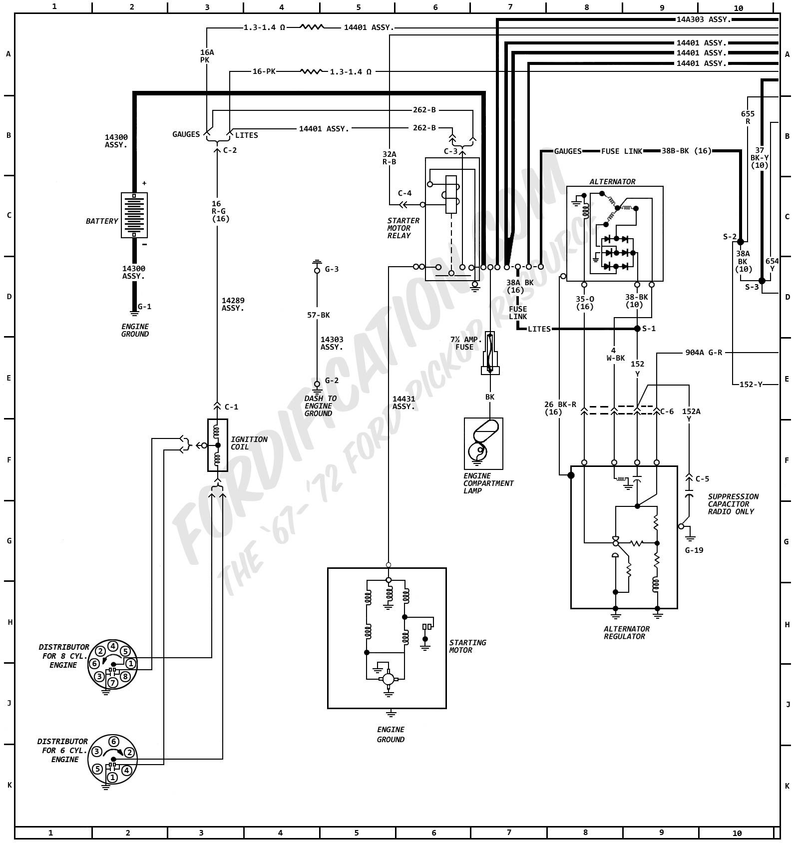 hight resolution of 1972 ford truck wiring diagrams fordification com 1972 ford f250 wiring diagram fusible link f350 brake light wiring diagram