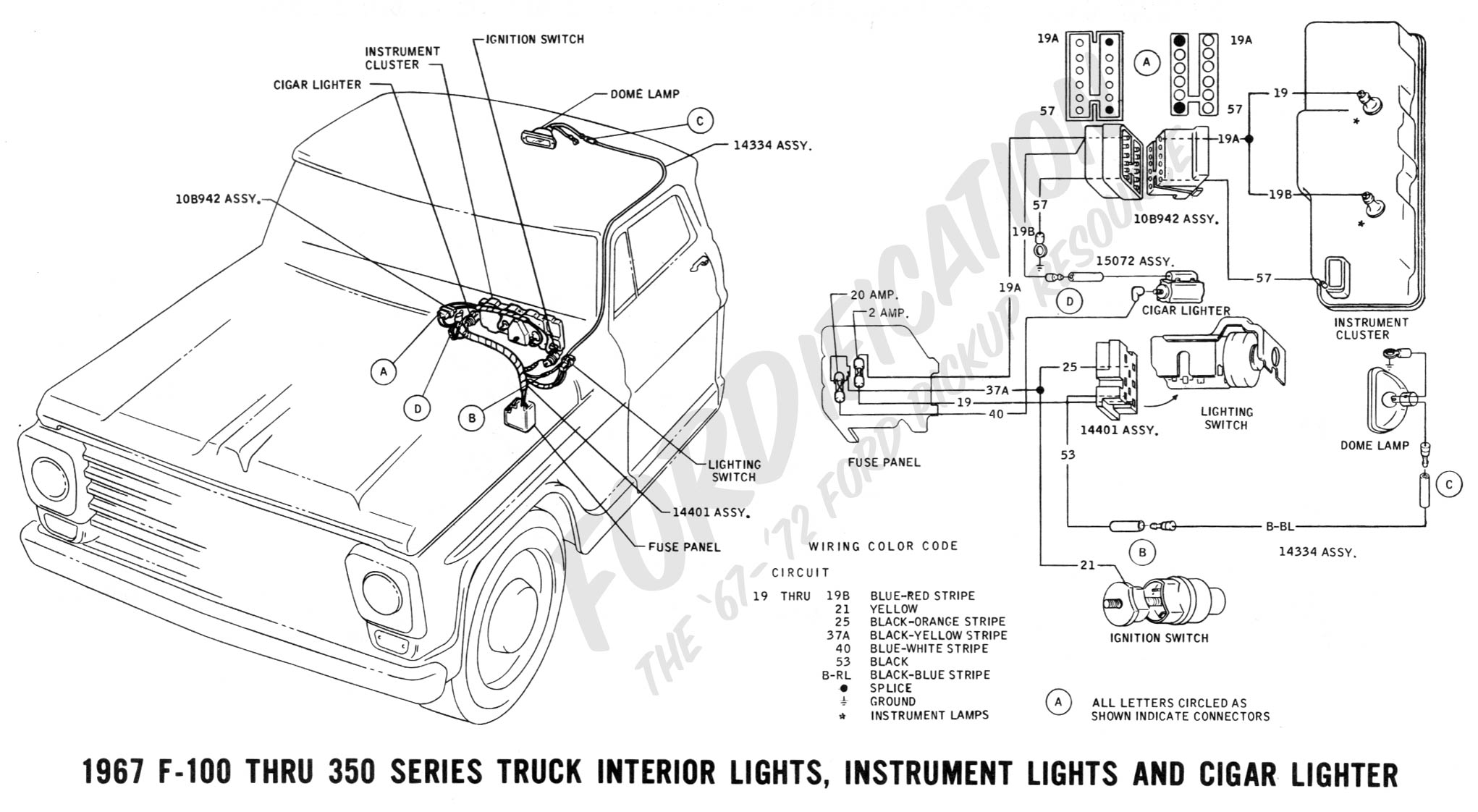 1968 f100 wiring diagram labeled of a motor car ford truck technical drawings and schematics section h