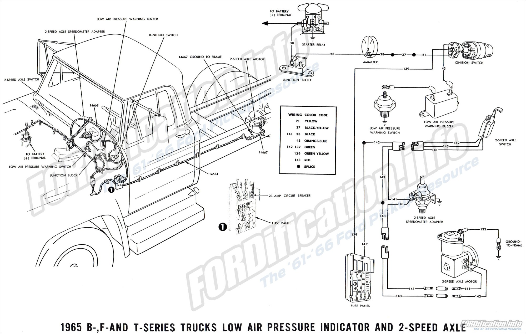 hight resolution of 1965 ford truck wiring diagrams fordification info the 1964 ford truck 1964 ford truck