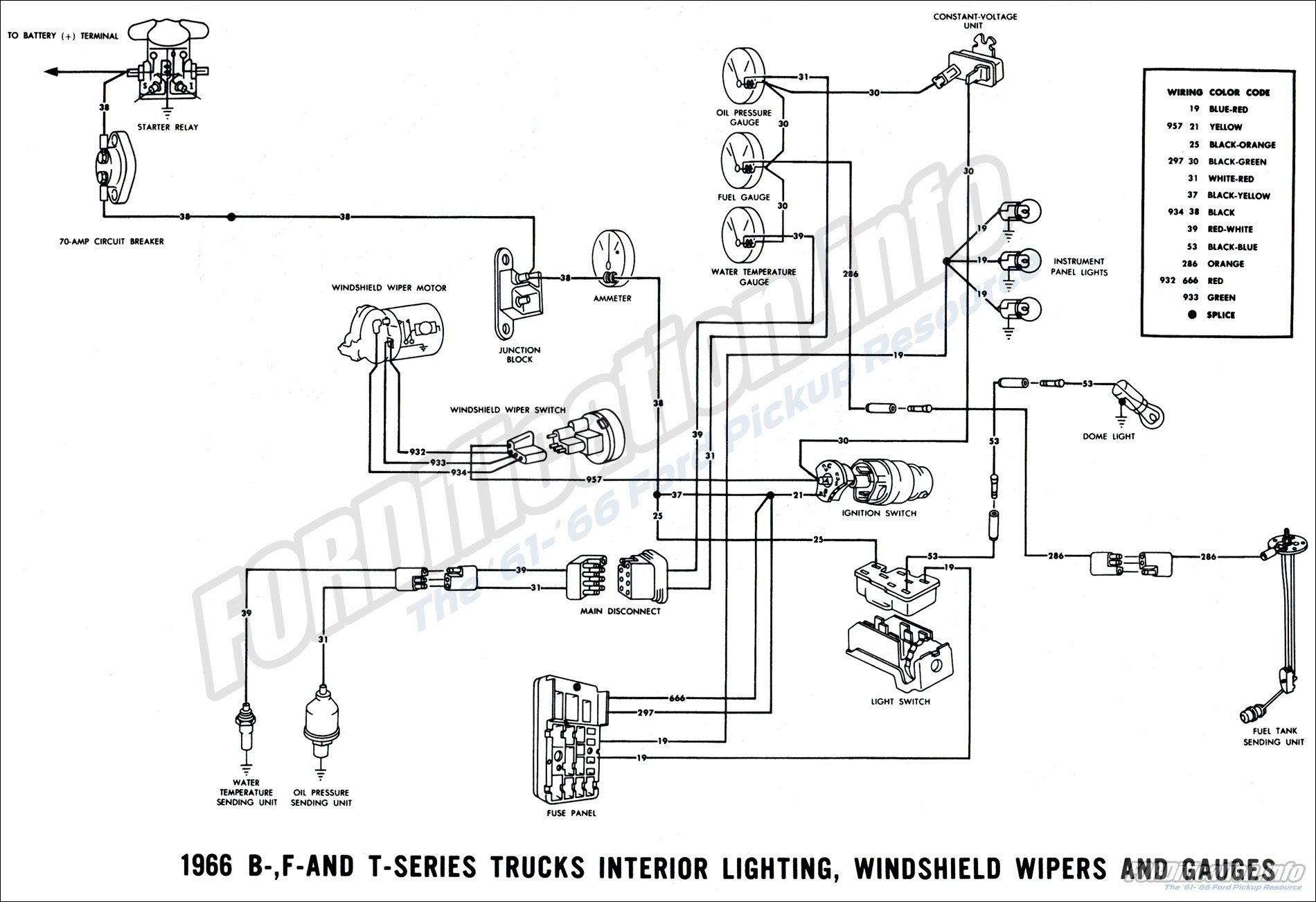 66 ford wiper wiring diagram