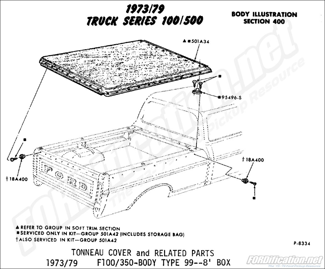 Ford Truck Part Numbers Tonneau Cover