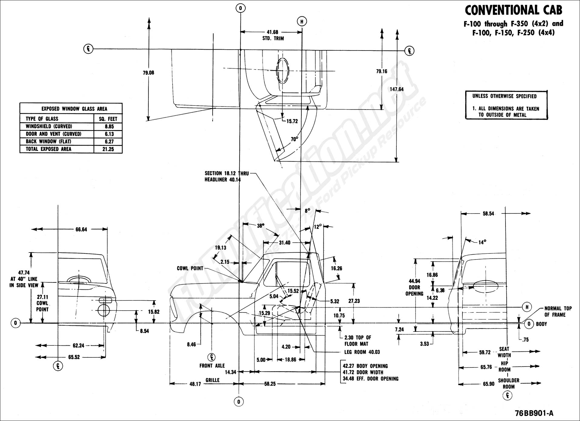 Ford body builders layout