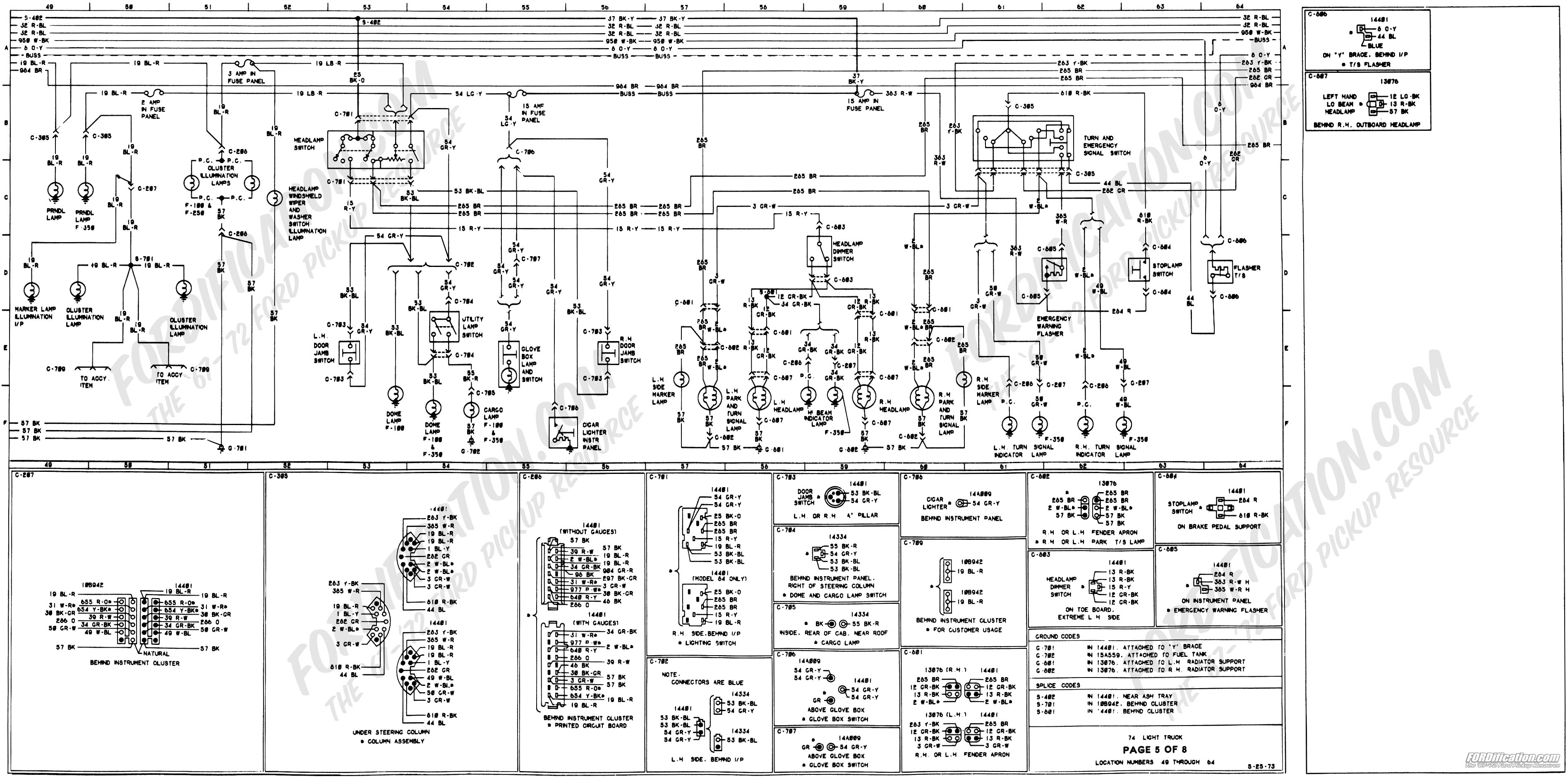 Wiring diagrams 74 ford