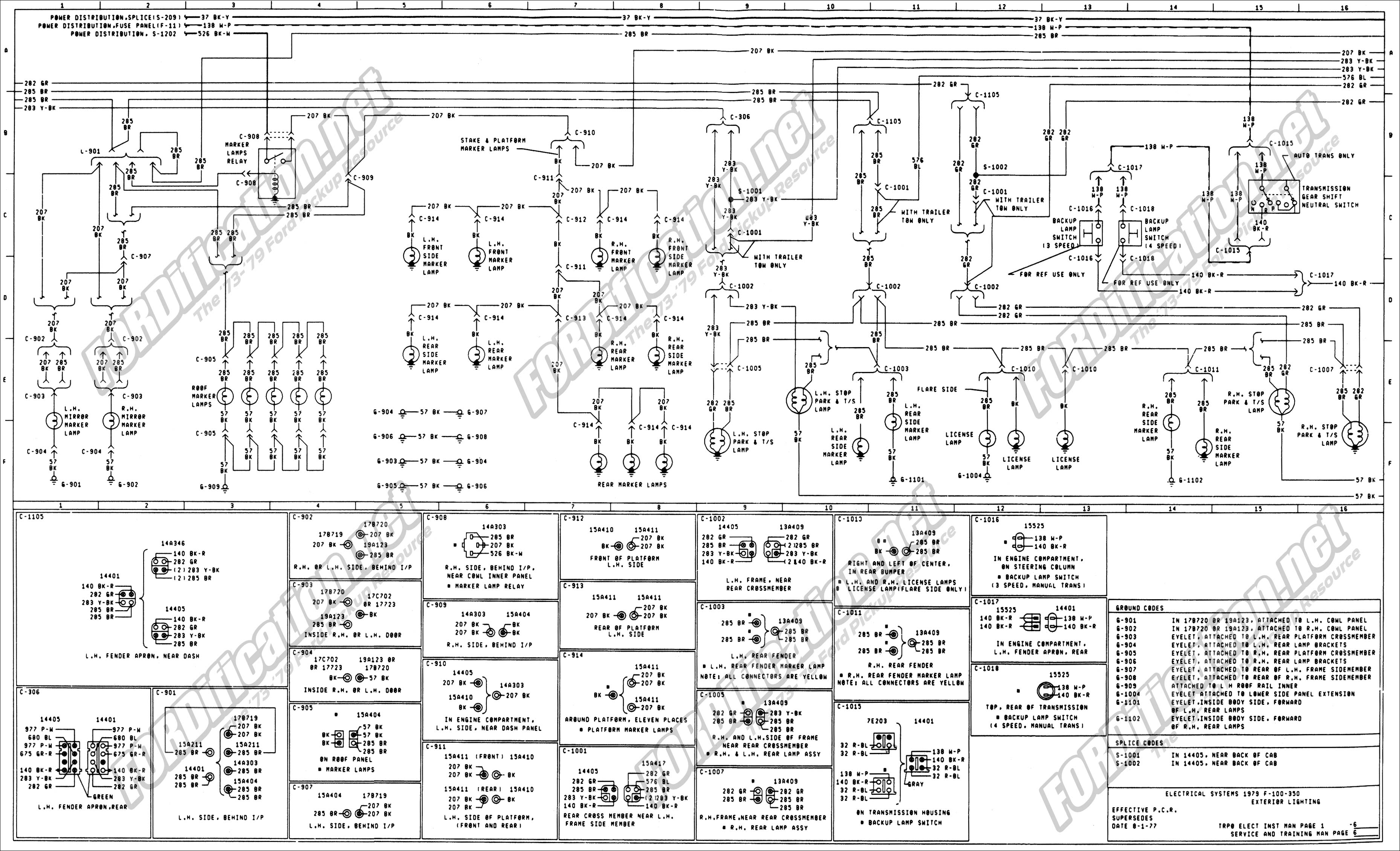 1999 ford f150 ignition switch wiring diagram well pump parts 1973-1979 truck diagrams & schematics - fordification.net