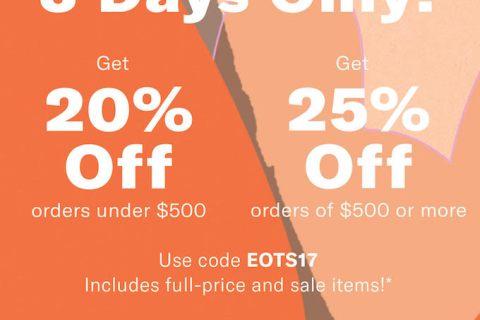 SHOPBOP fall sale