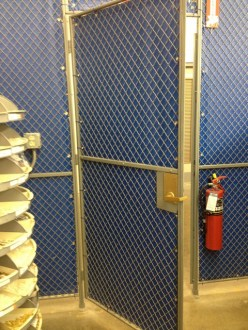 Warehouse Enclosure with Privacy Screening